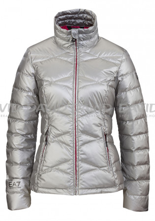 detail Women's feather jacket Armani 6YTB17 silver
