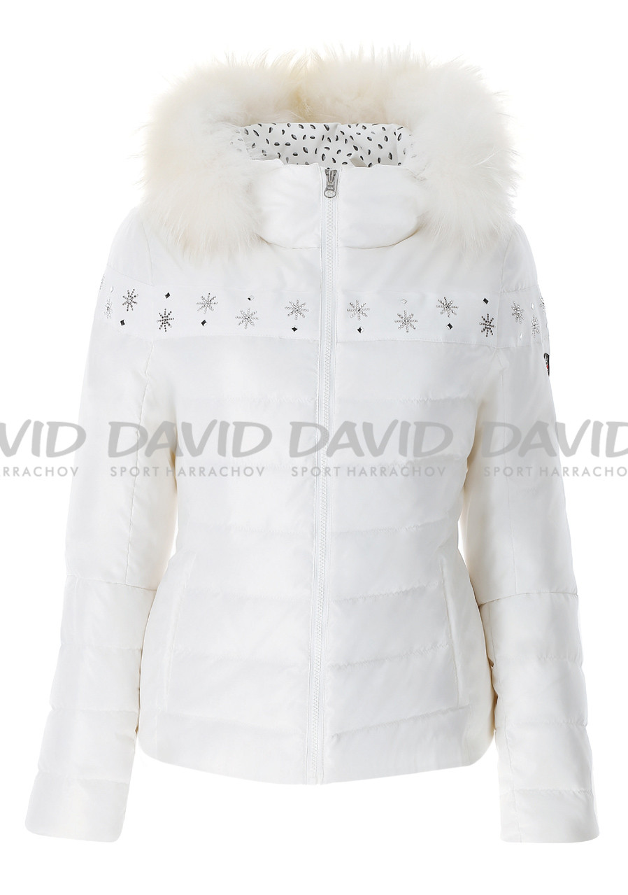 VIST CATERINA Leopard down jacket fur collar