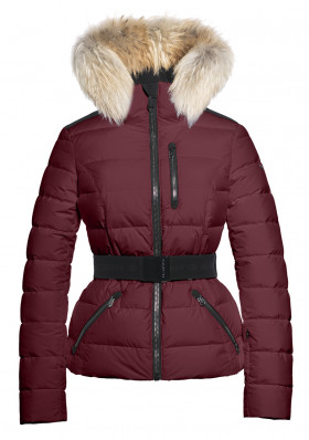 Damska kurtka zimowa Goldbergh Vita Fur Jacket (real Raccoon) Grappa